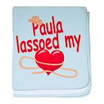 Paula Lassoed My Heart baby blanket