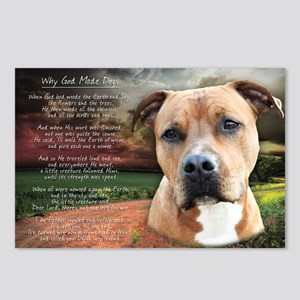 """""""Why God Made Dogs"""" AmStaff Postcards (Package of"""