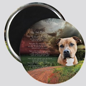 """Why God Made Dogs"" AmStaff Magnet"