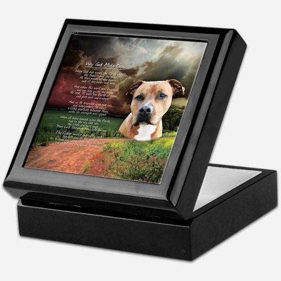 """Why God Made Dogs"" AmStaff Keepsake Box"