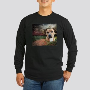 """Why God Made Dogs"" AmStaff Long Sleeve Dark T-Shi"