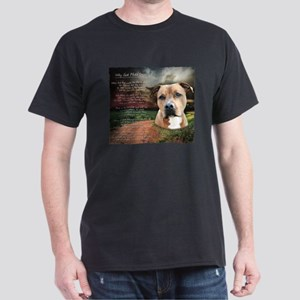 """Why God Made Dogs"" AmStaff Dark T-Shirt"