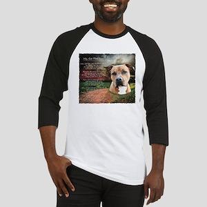 """Why God Made Dogs"" AmStaff Baseball Jersey"