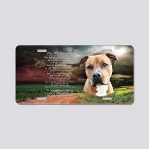 """Why God Made Dogs"" AmStaff Aluminum License Plate"