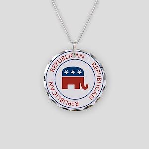 Republican Necklace Circle Charm