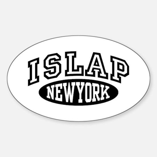 Islap NY Sticker (Oval)