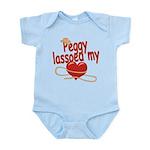 Peggy Lassoed My Heart Infant Bodysuit