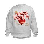Penelope Lassoed My Heart Kids Sweatshirt