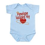 Penelope Lassoed My Heart Infant Bodysuit