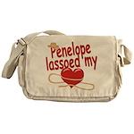 Penelope Lassoed My Heart Messenger Bag