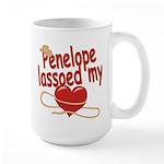 Penelope Lassoed My Heart Large Mug