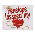 Penelope Lassoed My Heart Throw Blanket