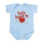Phyllis Lassoed My Heart Infant Bodysuit