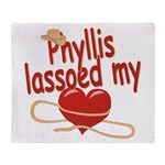 Phyllis Lassoed My Heart Throw Blanket