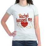Rachel Lassoed My Heart Jr. Ringer T-Shirt