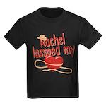 Rachel Lassoed My Heart Kids Dark T-Shirt