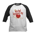 Rachel Lassoed My Heart Kids Baseball Jersey