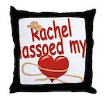 Rachel Lassoed My Heart Throw Pillow