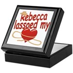Rebecca Lassoed My Heart Keepsake Box