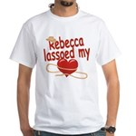 Rebecca Lassoed My Heart White T-Shirt