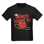Rebecca Lassoed My Heart Kids Dark T-Shirt