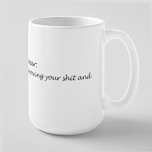 Knowing Grammar Large Mug