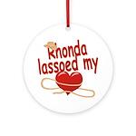 Rhonda Lassoed My Heart Ornament (Round)