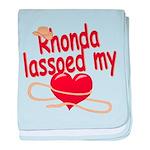 Rhonda Lassoed My Heart baby blanket