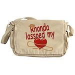 Rhonda Lassoed My Heart Messenger Bag