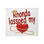 Rhonda Lassoed My Heart Throw Blanket