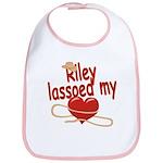 Riley Lassoed My Heart Bib
