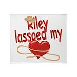 Riley Lassoed My Heart Throw Blanket