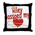 Riley Lassoed My Heart Throw Pillow