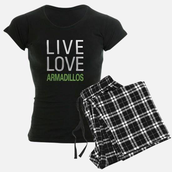 Live Love Armadillos Pajamas