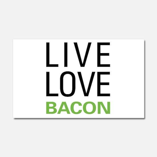 Live Love Bacon Car Magnet 20 x 12