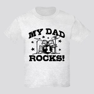 My Dad Rocks Kids Light T-Shirt