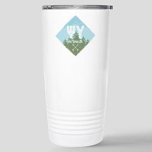 Psi Upsilon Mount 16 oz Stainless Steel Travel Mug