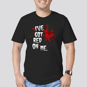 Red on Me Men's Fitted T-Shirt (dark)
