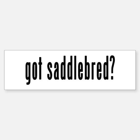 GOT SADDLEBRED Sticker (Bumper)