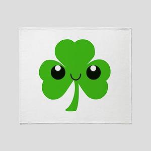 Irish Cute Shamrock Throw Blanket