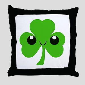 Irish Cute Shamrock Throw Pillow
