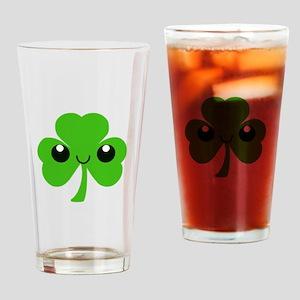 Irish Cute Shamrock Drinking Glass