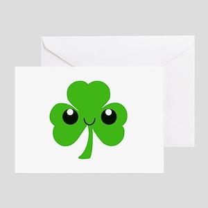Irish Cute Shamrock Greeting Card