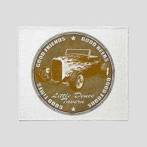 1932 Ford Little Deuce Tavern Throw Blanket