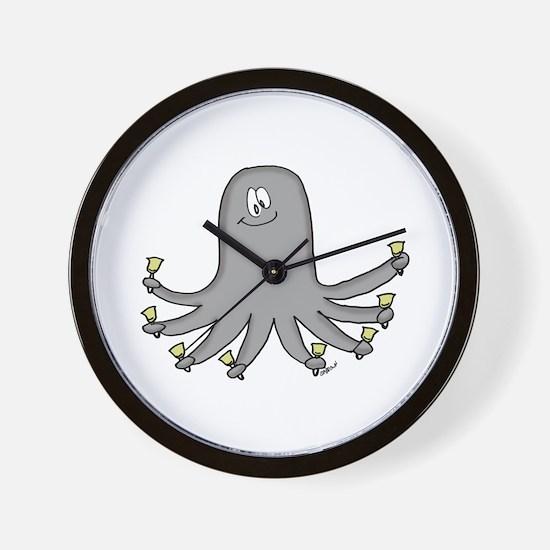 Octopus Handbells Wall Clock
