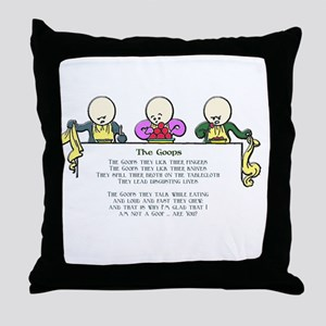 The Goops Throw Pillow