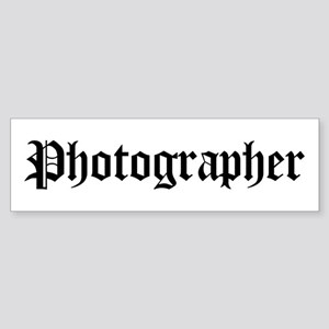 Photographer Bumper Sticker