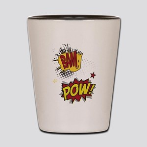Comic Book Sounds Shot Glass