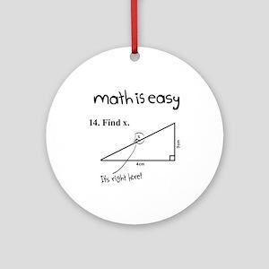 Math is Easy Joke Ornament (Round)