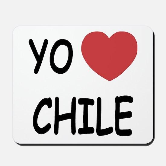 Yo amo Chile Mousepad